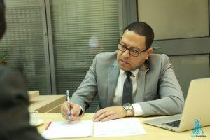 Dr. Mohamed Ali Ibrahim during Elaph Translation surveillance audit.
